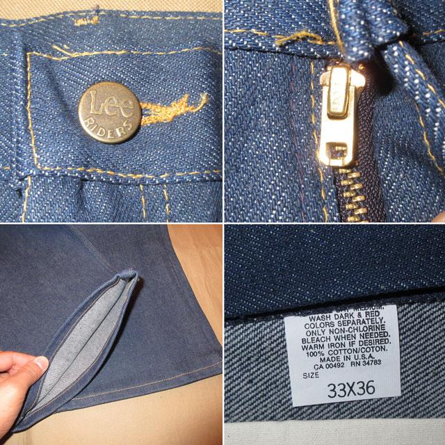 画像4: デッドストック Lee RAIDERS リー ライダース 202 ブーツカット デニム パンツ ジーンズ NVY USA製 80's /161207
