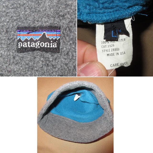 画像3: 古着 patagonia パタゴニア アルパインハット フリース CAP 帽子 BLUE/GRY 90's / 161212