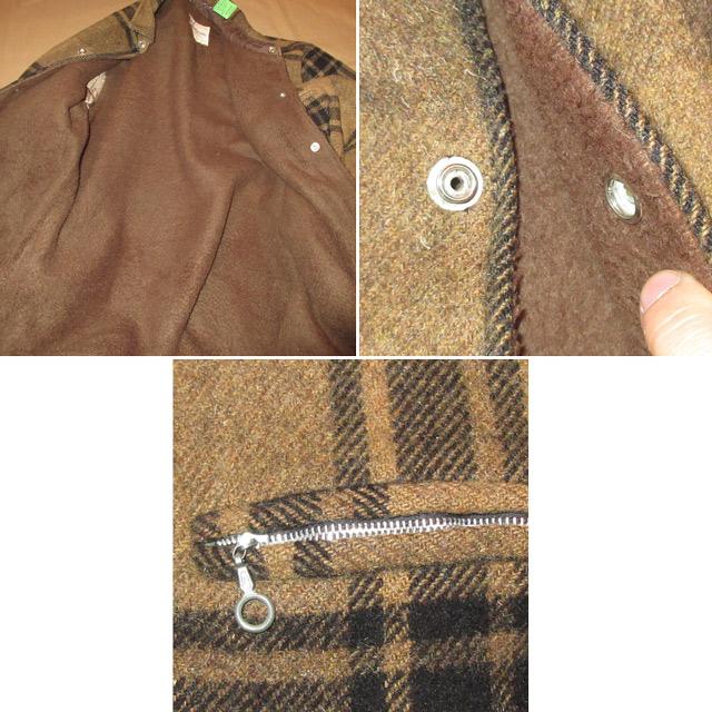 画像5: 古着 USA製 Hall American 内ボア ウールジャケット BRW/BLK 60's / 161227