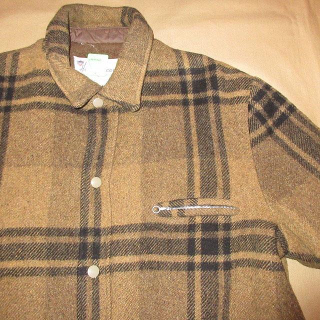 画像3: 古着 USA製 Hall American 内ボア ウールジャケット BRW/BLK 60's / 161227