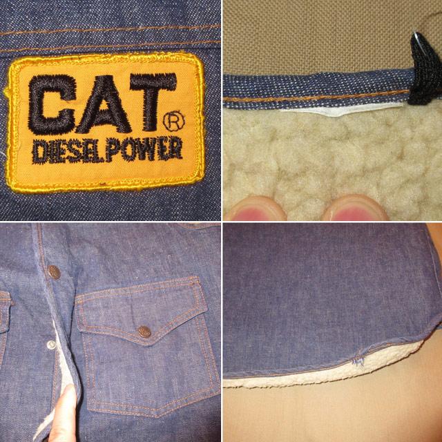 画像5: 古着 CAT ブランド不明 内ボア デニムベスト NVY 80's / 170122