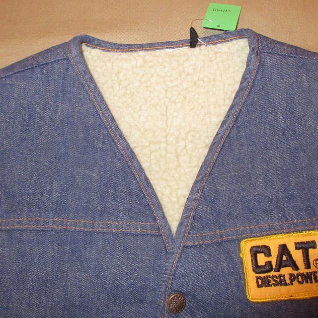 画像3: 古着 CAT ブランド不明 内ボア デニムベスト NVY 80's / 170122