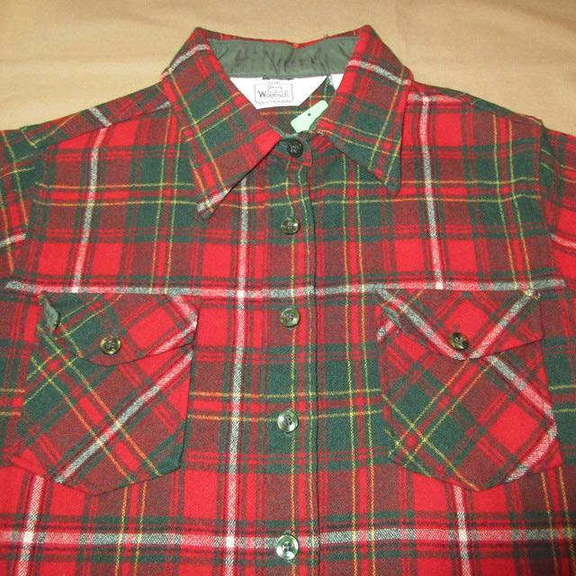 画像3: 古着 Woolrich ウールリッチ ウールシャツ RED 80's /170126