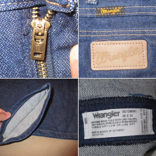 画像4: 美品 ほぼデッドストック 古着 Wrangler ラングラー 13MW デニム パンツ ジーンズ NVY 80's /170403