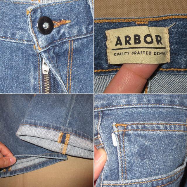 画像4: 新品 ARBOR アーバー スリムフィット スキニー ストレッチ デニム パンツ ジーンズ BLUE 00's /170403