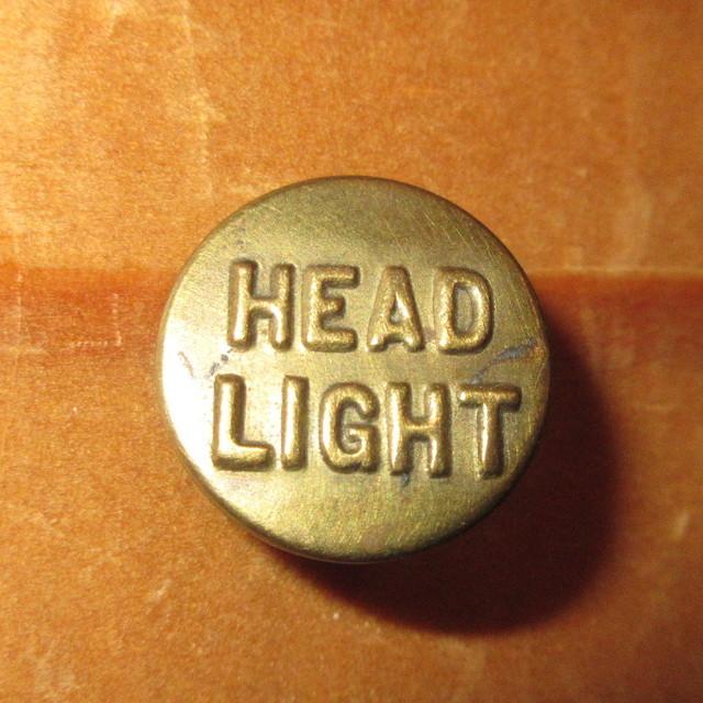 画像1: 古着 HEAD LIGHT ヘッドライト 2 チェンジボタン ワークブランド ヴィンテージ アンティーク 40's / 170407