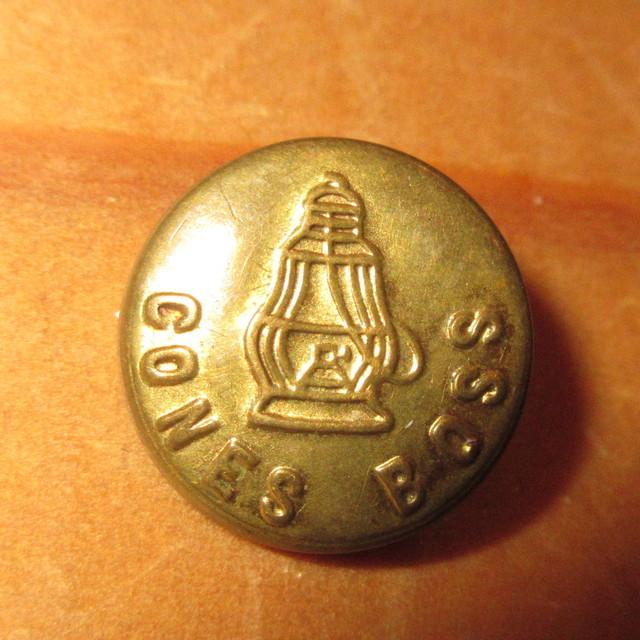 画像1: 古着 CONES BOSS コーンズボス 小 チェンジボタン ワークブランド ヴィンテージ アンティーク 40's / 170407