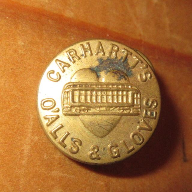 画像1: 古着 CARHARTT カーハート チェンジボタン 2 ワークブランド ヴィンテージ アンティーク 40's / 170407