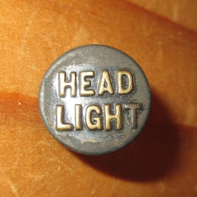 画像1: 古着 HEAD LIGHT ヘッドライト 1 チェンジボタン ワークブランド ヴィンテージ アンティーク 40's / 170407