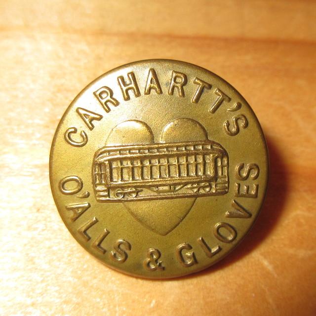 画像1: 古着 CARHARTT カーハート チェンジボタン 4 ワークブランド ヴィンテージ アンティーク 40's / 170407