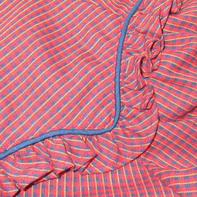 画像4: 古着 KARMAN フリル付き レディース ウエスタンシャツ RED チェック USA製 ヴィンテージ 70's /170420