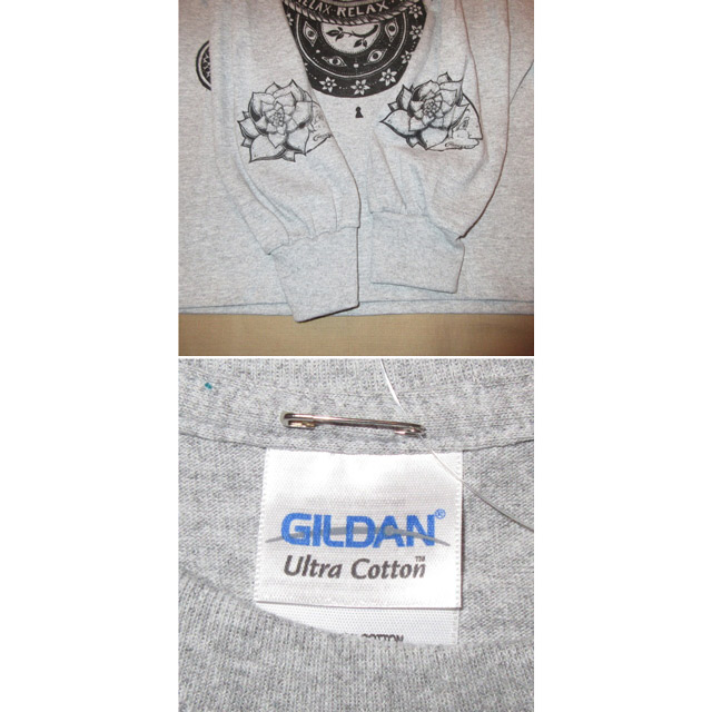 画像4: 新品 Kalen Blackburn カレンブラックバーン アーティスト カットソー アンダーウェア 長袖Tシャツ GRY 00's / 170427