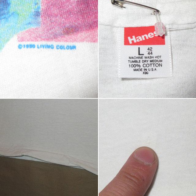 画像5: 古着 LIVING COLOUR リヴィングカラー オルタナロック ブラックロック Tシャツ WHT 90's / 170531