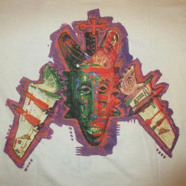 画像4: 古着 LIVING COLOUR リヴィングカラー オルタナロック ブラックロック Tシャツ WHT 90's / 170531