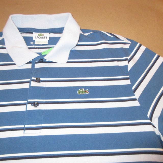 画像3: 古着 LACOSTE ラコステ ボーダーポロ ポロシャツ BLUE 00's / 170610