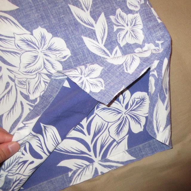 画像4: 古着 Guy Romo ガイロモ ハイビスカス アロハシャツ ハワイアンシャツ 半袖シャツ BLUE 60's / 170627