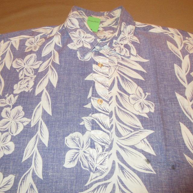 画像3: 古着 Guy Romo ガイロモ ハイビスカス アロハシャツ ハワイアンシャツ 半袖シャツ BLUE 60's / 170627