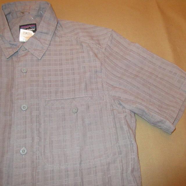 画像3: 古着 patagonia パタゴニア 織り柄 アウトドア 半袖シャツ GRY 00's / 170627
