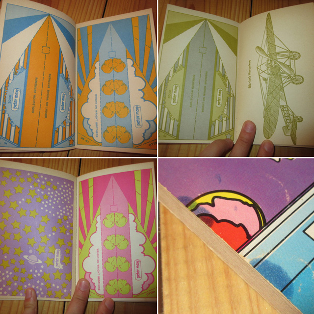 画像5: アンティーク peter max ピーターマックス PAPER AIRPLANE BOOK 紙飛行機 本 コレクタブル USA製 70's / 170709