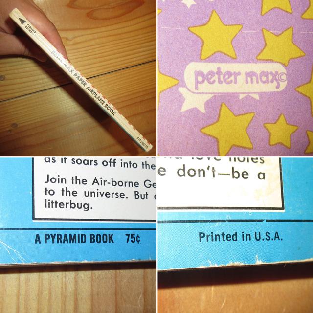 画像3: アンティーク peter max ピーターマックス PAPER AIRPLANE BOOK 紙飛行機 本 コレクタブル USA製 70's / 170709