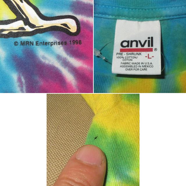 画像4: 古着 90's GRAFFIX グラフィックス ボング タイダイ Tシャツ made in USA / 170810