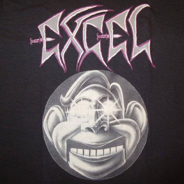 画像3: デッドストック 古着 80's 90's EXCEL エクセル THE JOKE'S ON YOU クロスオーバー スケートロック Tシャツ BLK / 170824