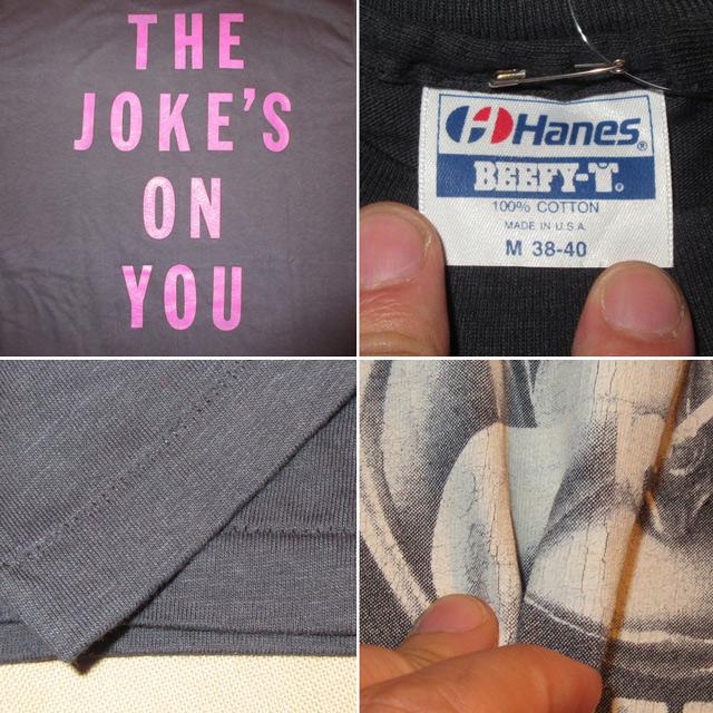 画像4: デッドストック 古着 80's 90's EXCEL エクセル THE JOKE'S ON YOU クロスオーバー スケートロック Tシャツ BLK / 170824