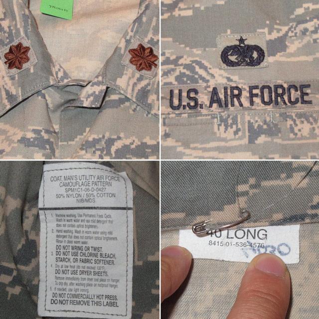 画像4: 古着 00's USAF アメリカ空軍 デジカモ ユーティリティージャケット ミリタリ- GRN /170910