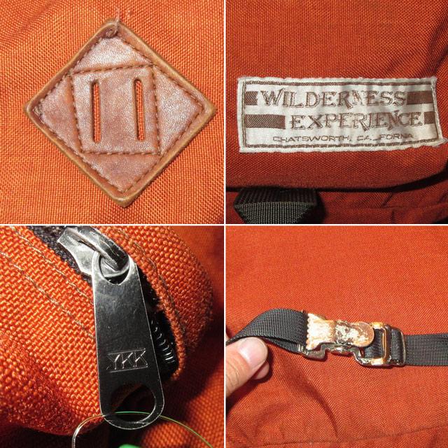 画像4: USED 70~80's WILDERNESS EXPERIENCE デイパック ブタ鼻 アウトドア ヴィンテージ ORG /170911
