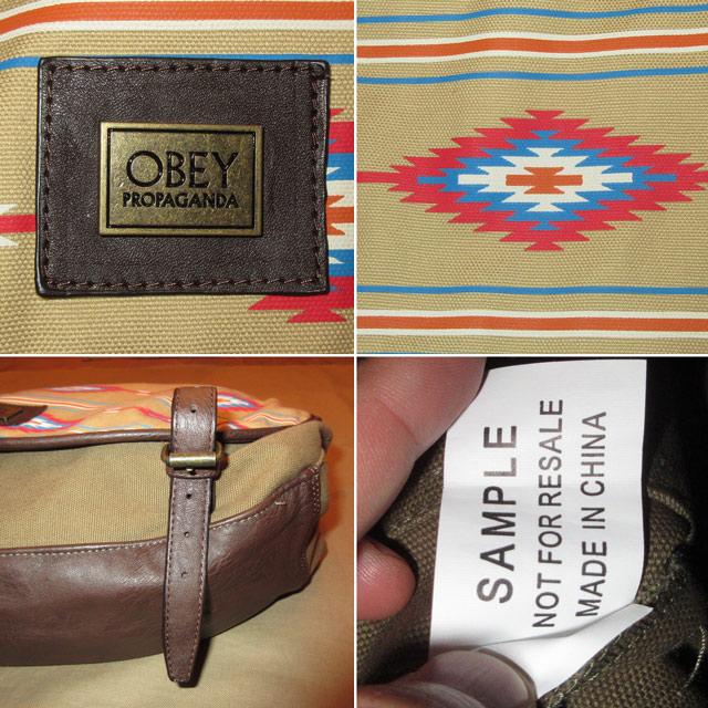 画像3: 新品 OBEY メッセンジャーバッグ ネイティヴ柄 MIX /170911