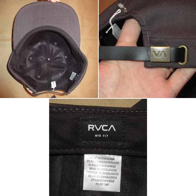 画像3: 新品 00's RVCA ルーカ 6PANEL CAP 帽子 ストリート CHA  / 170919