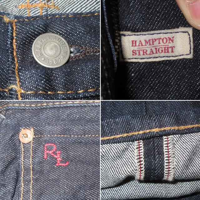 画像4: W:32 新品 00's Ralph Lauren ラルフローレン HAMPTON STRAIGHT デニム パンツ ジーンズ /171209