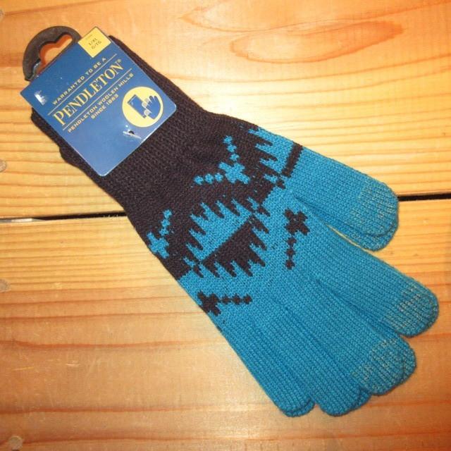 画像1: 新品 00's PENDLETON ペンドルトン ネイティヴ柄 ニットグローブ 手袋 TUQ/BLK / 180113
