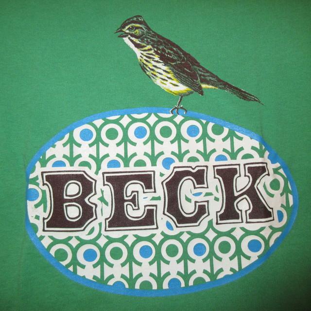 画像3: 古着 90's BECK ベック ODELAY BIRD Tシャツ GRN / 180118