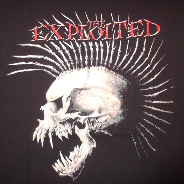 画像3: 古着 00's THE EXPLOITED エクスプロイテッド スカル ハードコアパンク Tシャツ BLK / 180118