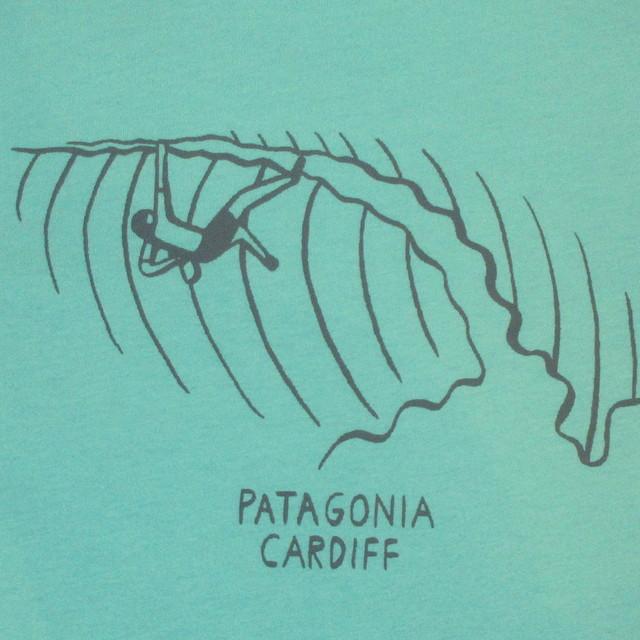 画像3: 新品 00's patagonia パタゴニア cardiff by the sea カーディフ 限定 Tシャツ climb GRN / 180509