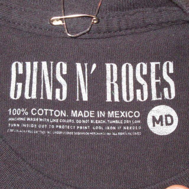 画像5: 古着 00's GUNS&ROSES ガンズ&ローゼス NOT IN THIS LIFE TIME TOUR Tシャツ BLK / 180529