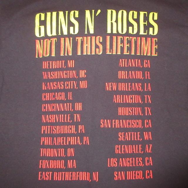 画像4: 古着 00's GUNS&ROSES ガンズ&ローゼス NOT IN THIS LIFE TIME TOUR Tシャツ BLK / 180529