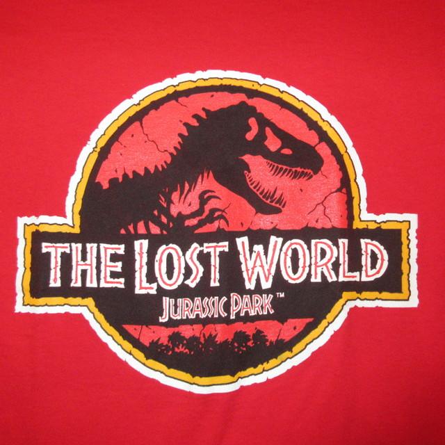 画像3: 美品 古着 90's LOST WORLD ジュラシックパーク 映画 Tシャツ RED / 180605