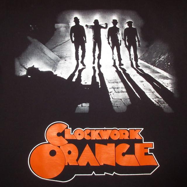 画像3: 美品 古着 00's CLOCKWORK ORANGE 時計仕掛けのオレンジ 映画 Tシャツ BLK / 180605