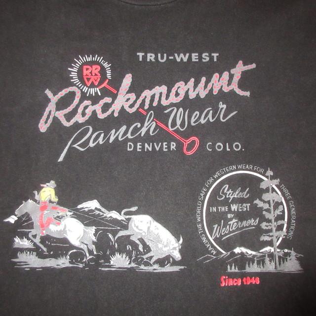 画像3: 古着 90's Rockmount ロックマウント Tシャツ BLK / 180605
