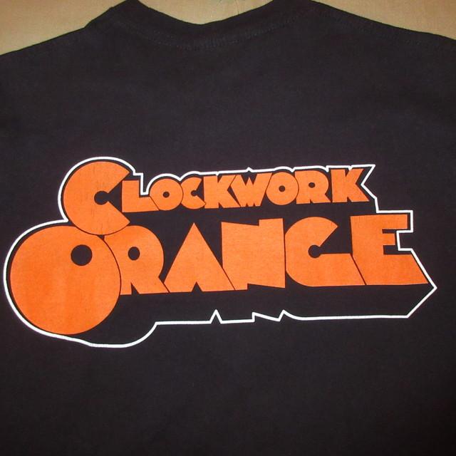画像4: 美品 古着 00's CLOCKWORK ORANGE 時計仕掛けのオレンジ 映画 Tシャツ BLK / 180605