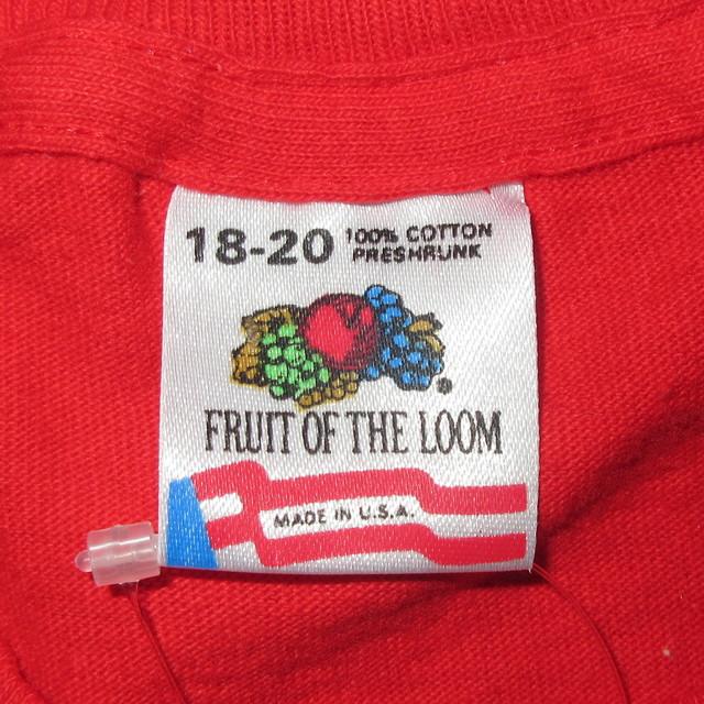 画像4: 美品 古着 90's LOST WORLD ジュラシックパーク 映画 Tシャツ RED / 180605