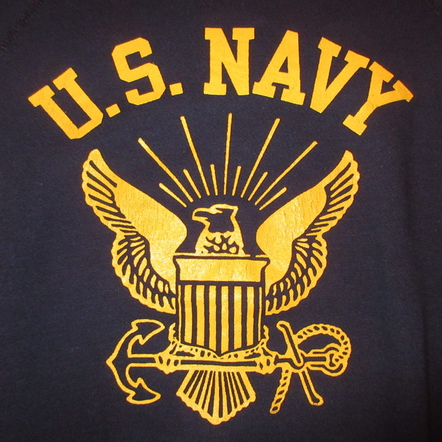 画像3: 古着 80's US NAVY アメリカ海軍 ミリタリー スウェット NVY /181204
