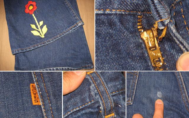 画像2: 【過去に販売した商品です】古着 Levi's 646 デニム 濃紺 刺繍 TALON42 70年代 ヴィンテージ