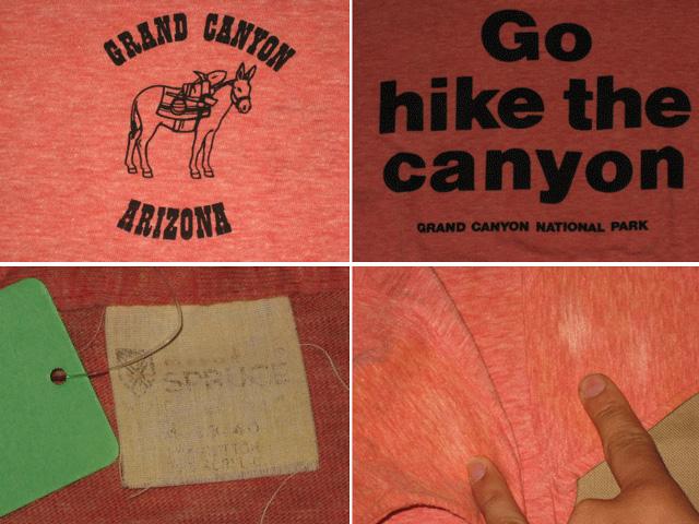 画像3: 古着 GRAND CYNYON リンガー Tシャツ トリム 霜降り SPRUCE スプルース 70〜80年代