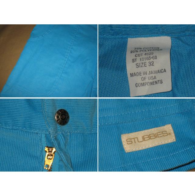 画像3: デッドストック STUBBIES コーデュロイ ビーチ ショートパンツ ブルー ジャマイカ製 90〜00年代